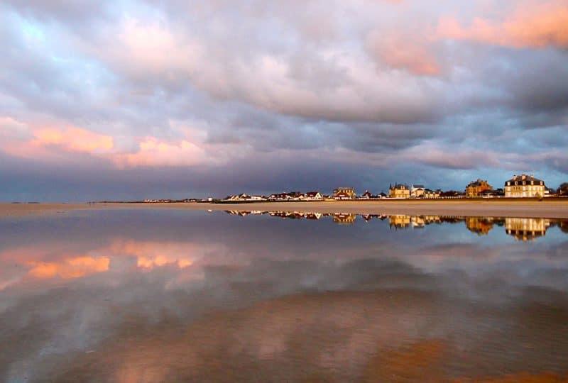 Paysage de la plage d'Asnelles