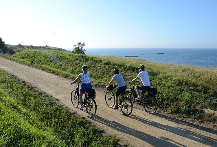 Balade accompagnée à vélo le long du littoral dans le Calvados