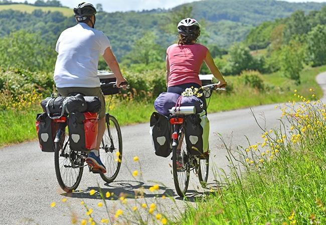 Balade d'un couplé à vélo sur la Vélo Francette