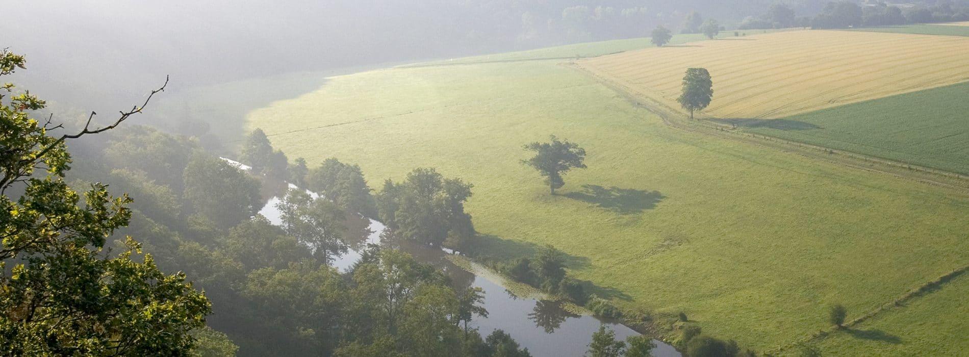 Paysage de Clecy en Suisse Normande dans le Calvados