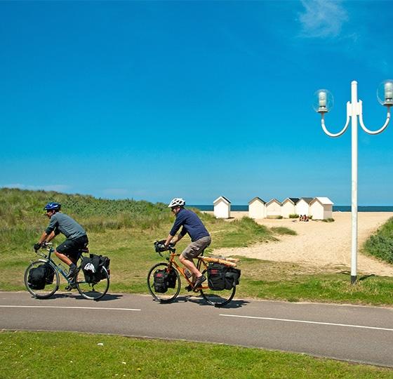Balade le long du littoral à Ouistreham dans le Calvados en Normandie