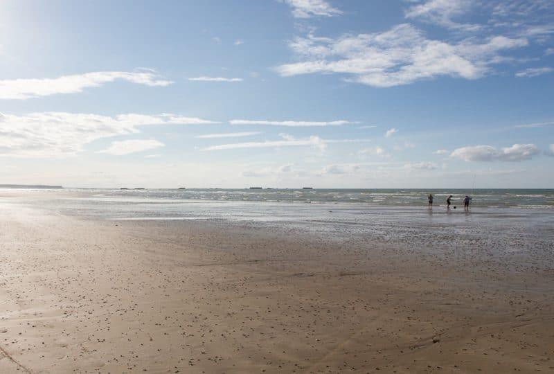 Balade sur la plage du bessin