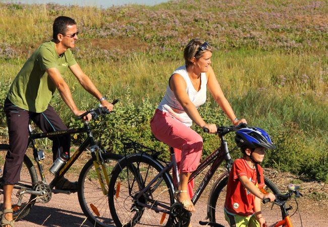 Balade à vélo en famille dans le Calvados