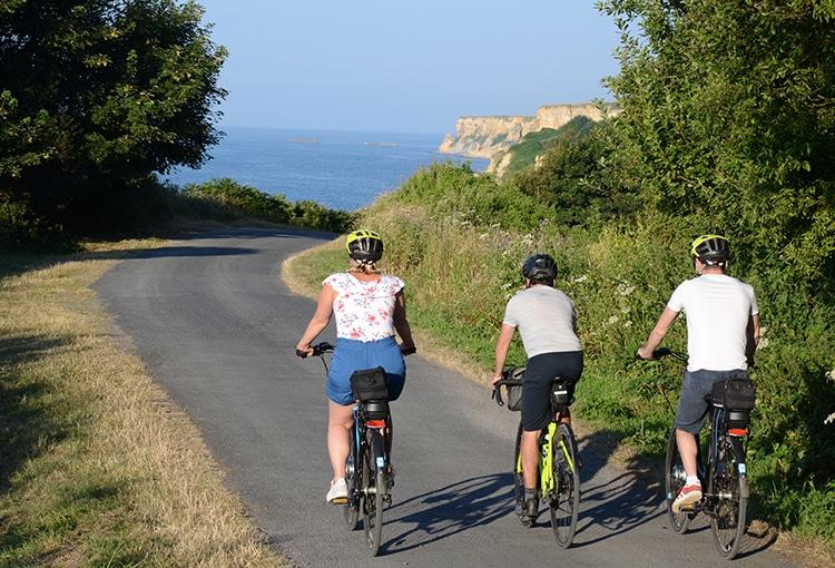 Balade à vélo le long du littoral