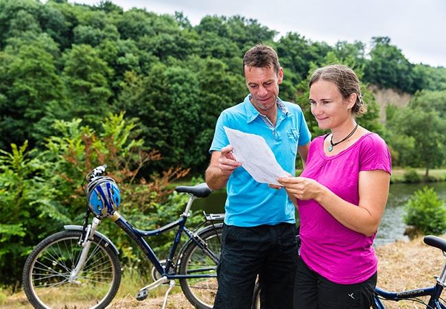Balade à vélo en couple
