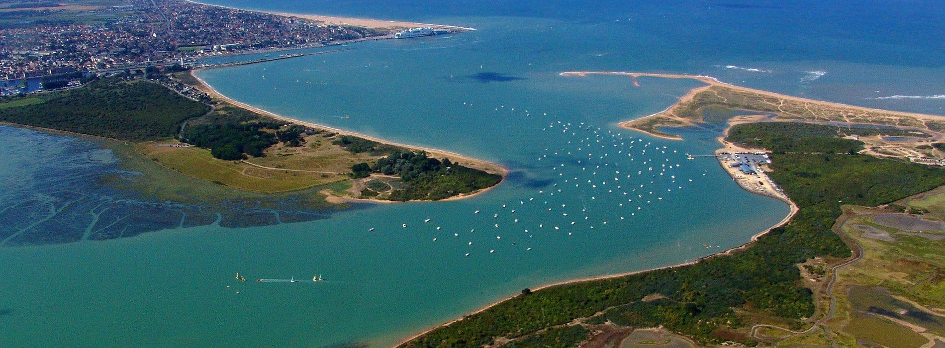 Vue aérienne Baie de Sallenelles dans le Calvados