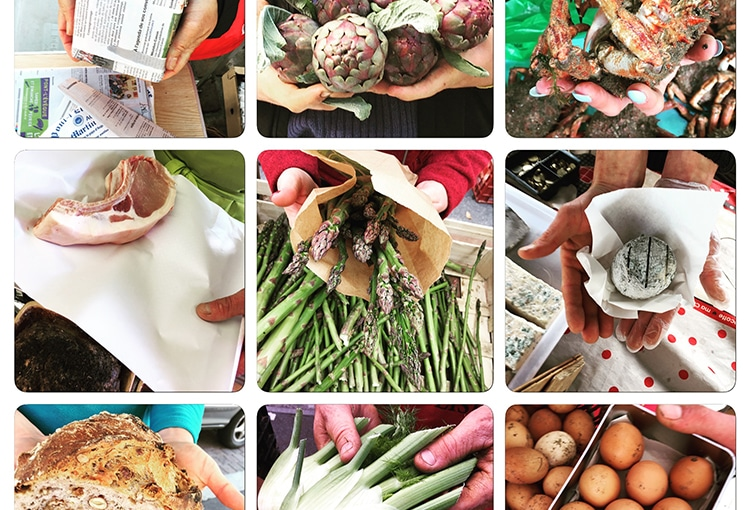 Légumes, viande et fromages