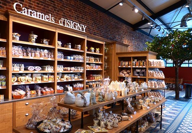 Boutique des caramels d'Isigny dans le Calvados