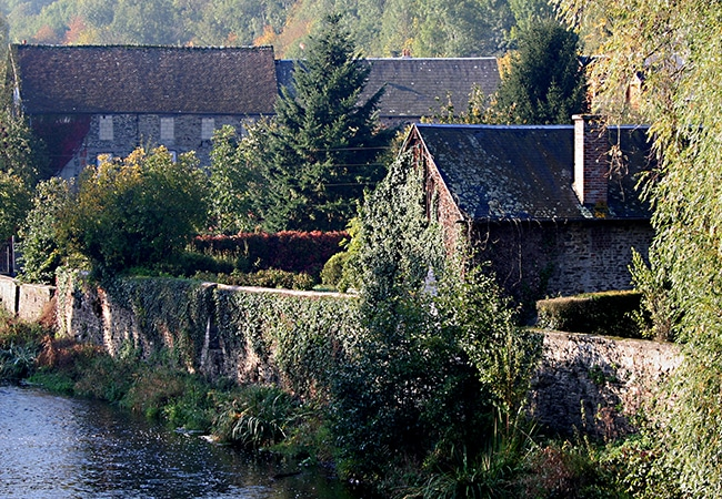Paysage de Suisse Normande dans le Calvados