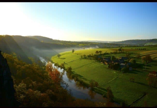 vue sur la vallée de l'Orne en Suisse normande