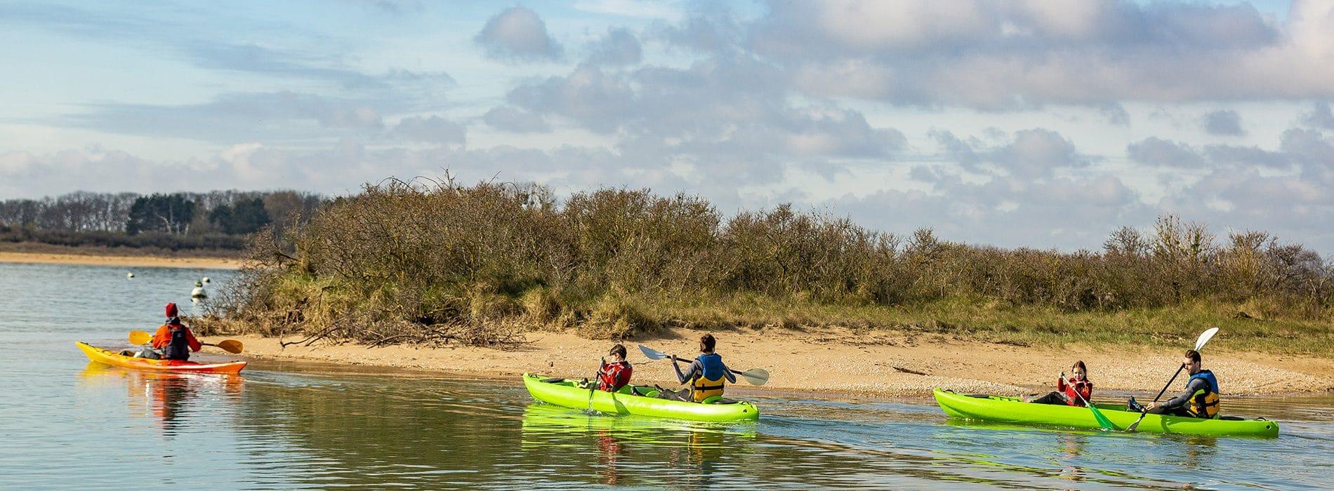 Balade en canoë-kayak dans la baie de Sallenelles, Calvados