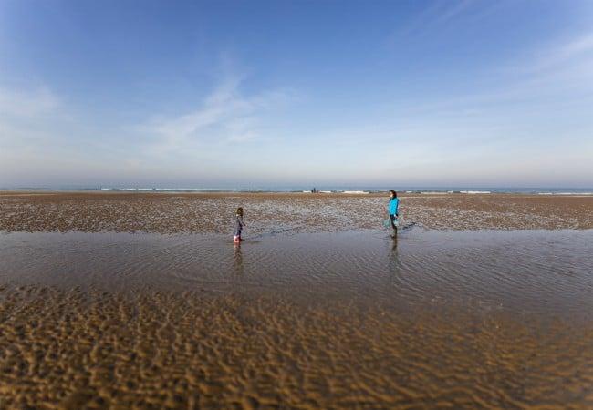 Omaha Beach à marée basse