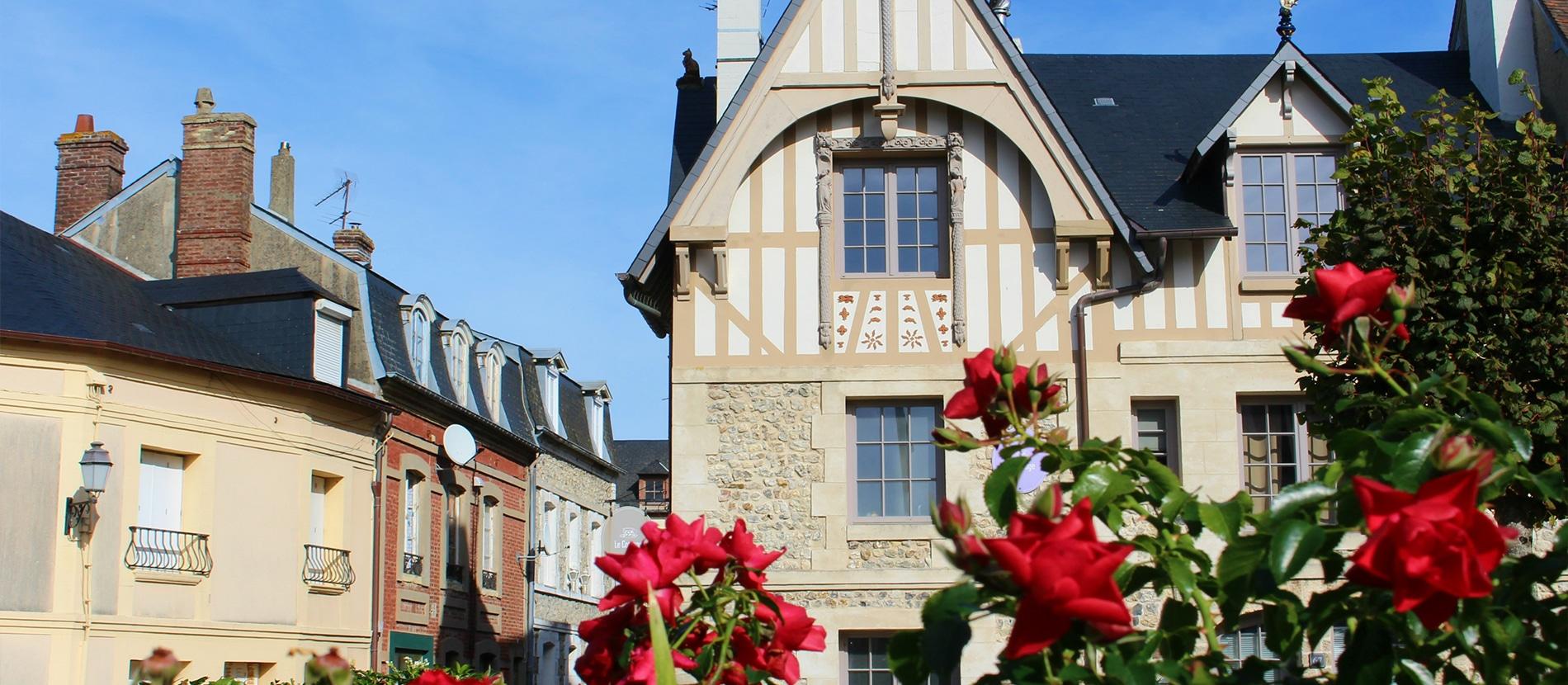 Architecture de Villerville dans le Calvados en Normandie