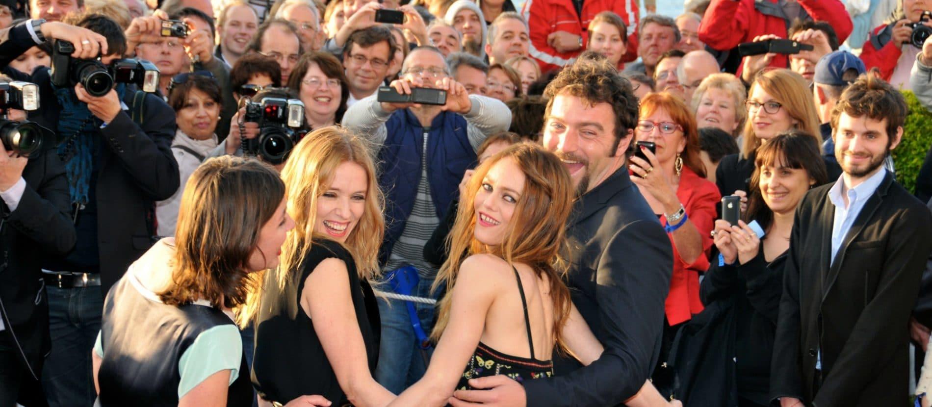 Vanessa Paradis, Léa Drucker et la foule au festival du film de Cabourg
