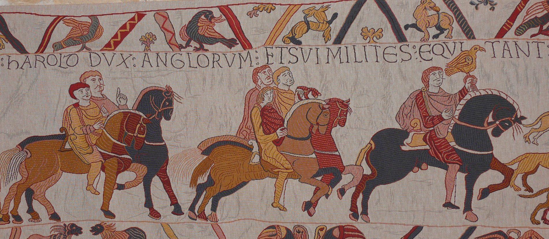 chevaux sur la tapisserie de Bayeux