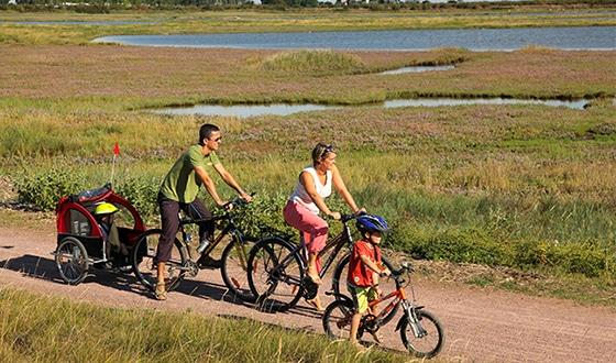 Balade à vélo en famille