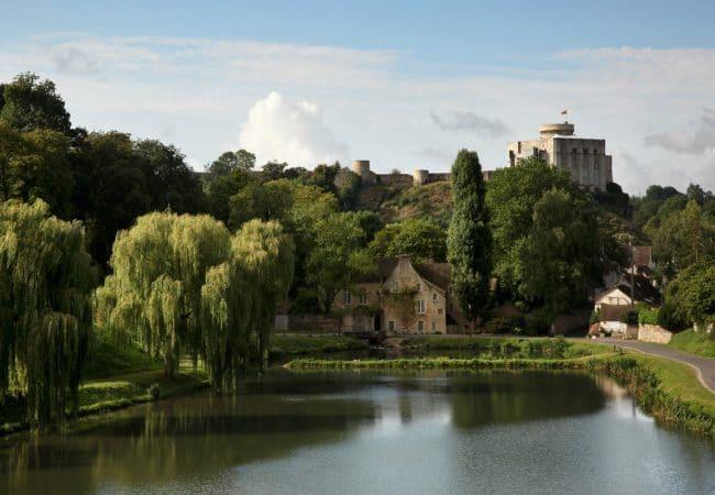 Vue sur le château de Falaise