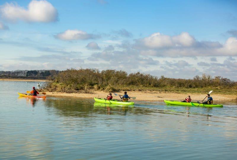 Du kayak en famille dans la baie sauvage de Sallenelles