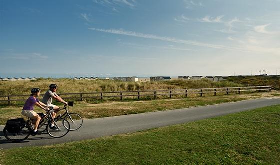 Balade en couple à vélo