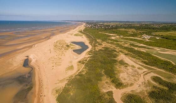 Dunes de Merville prises en photo par drone