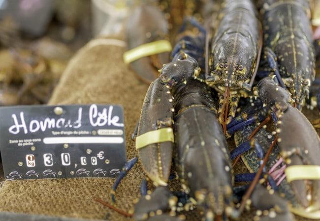 Etal de poissons à Courseulles-sur-mer