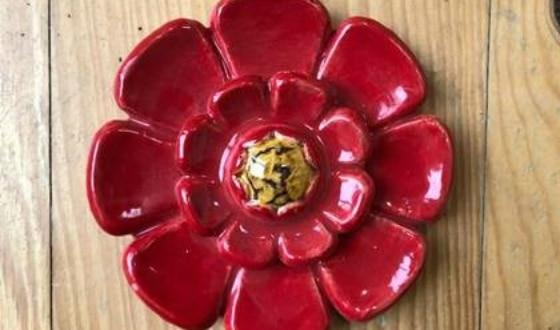 Fleur émaillée
