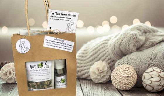 Coffret cadeau et laine