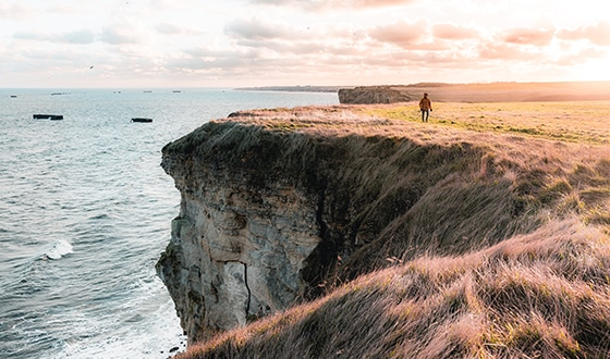 Des falaises avec vue sur la mer