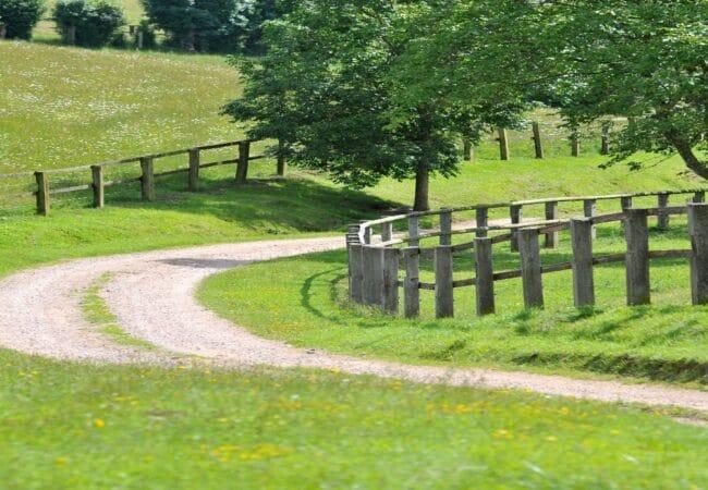 petite route de campagne avec virage