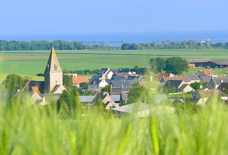 Vue d'un village de la campagne