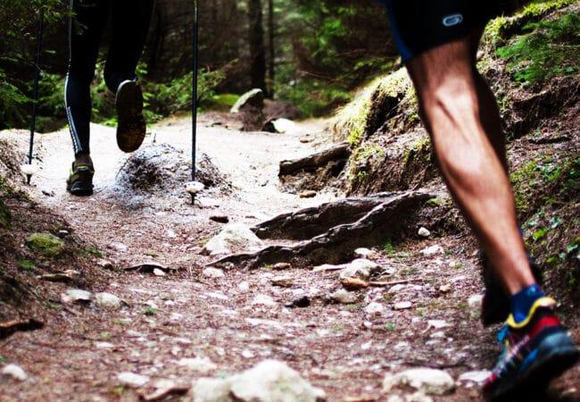 Personnes entrain de réaliser un trail